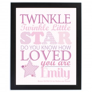 Twinkle Girls Poster Frame