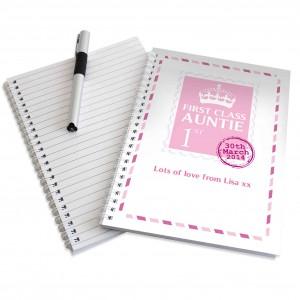 Pink 1st Class A5 Notebook