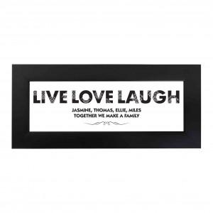 Live Love Laugh Name Frame