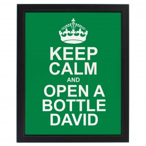 Keep Calm Green Framed Print