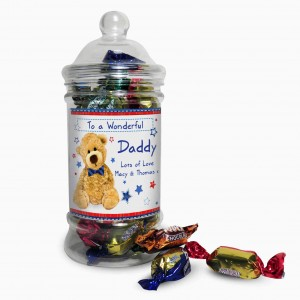 Teddy Bow Tie Toffee Jar