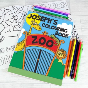 Zoo Colouring Set