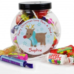 Felt Stitch Reindeer Sweet Jar