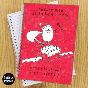 Purple Ronnie Christmas Male Notebook