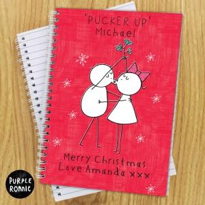 Purple Ronnie Christmas Couple Notebook