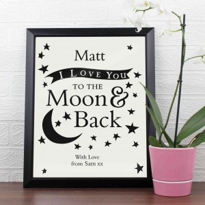 To the Moon and Back... Poster Frame