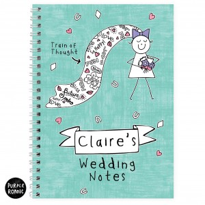 Purple Ronnie Bride Notebook