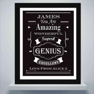 Vintage Typography Poster Frame