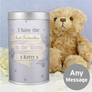 Garden Bloom Teddy in a Tin