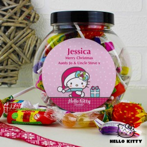 Hello Kitty Pink Christmas Sweets Jar