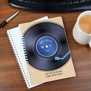 Retro Vinyl Notebook