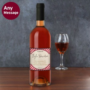 Pink Stripe Rose Wine