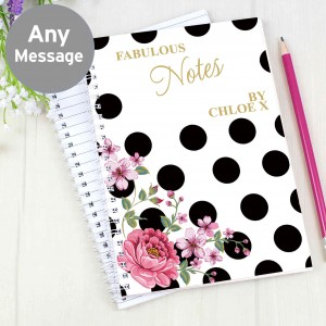 Floral Dot Notebook