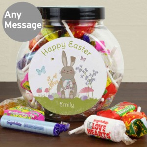 Easter Meadow Bunny Sweets Jar