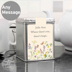 Country Diary Wild Flowers Tea & Tin