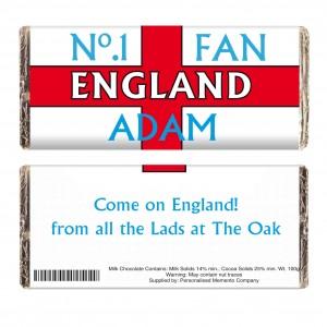 No1 England Fan Milk Chocolate Bar
