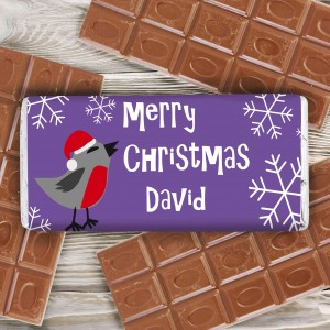 Christmas Robin Milk Chocolate Bar