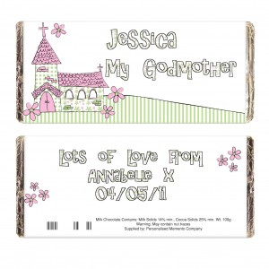 Whimsical Church Godmother Milk Chocolate Bar