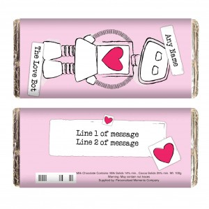 Love Bot Milk Chocolate Bar