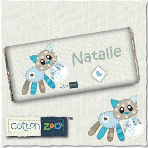 Cotton Zoo Calico the Kitten Milk Chocolate Bar
