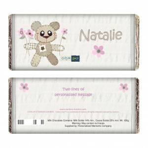 Cotton Zoo Girls Tweed the Bear Milk Chocolate Bar