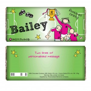 Bang on the Door Football Crazy Milk Chocolate Bar
