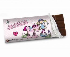 Bang on the Door Pony Girl Milk Chocolate Bar
