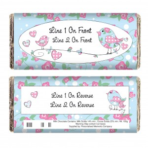 Floral Bird Milk Chocolate Bar