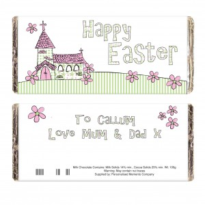 Whimsical Church Easter Milk Chocolate Bar