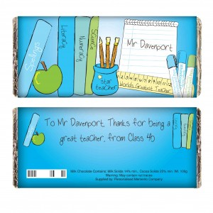 Teachers Books Male Milk Chocolate Bar