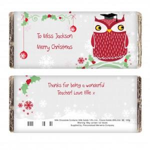 Christmas Owl Chocolate Bar