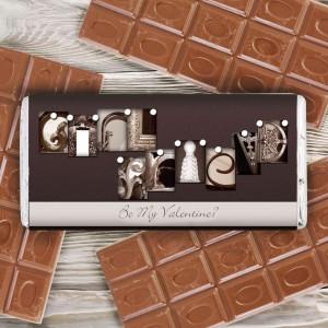 Affection Art Girlfriend Chocolate Bar