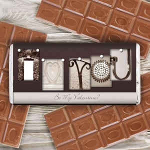 Affection Art I Heart You Chocolate Bar
