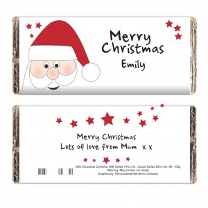 Santa Chocolate Bar
