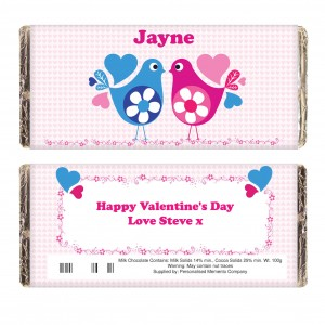 Love Heart Birds Chocolate Bar