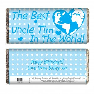 Blue Best in the World Chocolate Bar