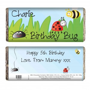 Birthday Bug Chocolate Bar