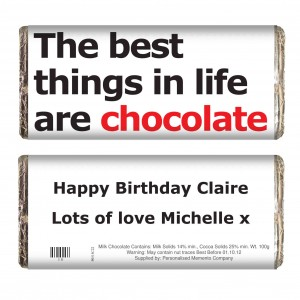 Best Things Slogan Chocolate Bar