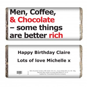 Better Rich Slogan Chocolate Bar