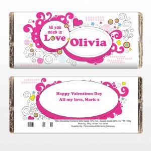 Groovy Doodle Love Chocolate Bar