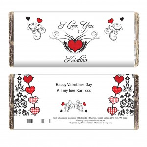 Tattoo Hearts Chocolate Bar
