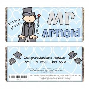 Bang on the Door Wedding Groom Chocolate Bar