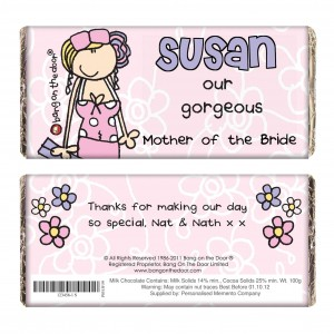 Bang on the Door  Wedding  Female Chocolate Bar
