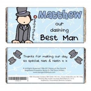 Bang on the Door Wedding Male Chocolate Bar