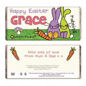 Bang on the Door Easter Bunny Chocolate Bar