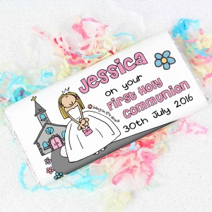 Bang On The Door First Holy Communion Girls Chocolate Bar