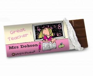 Bang On The Door Female Teacher Chocolate Bar