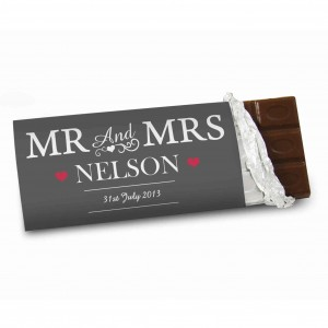 Mr & Mrs Chocolate Bar