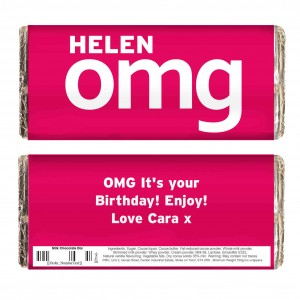 OMG Slogan Chocolate Bar