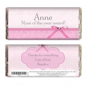 Pink Paisley Chocolate Bar